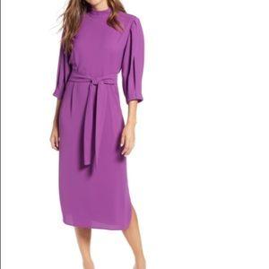 Halogen Midi Tie Waist Dress